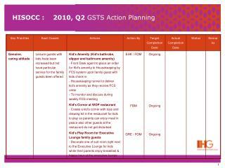 HISOCC :    2010, Q2  GSTS Action Planning