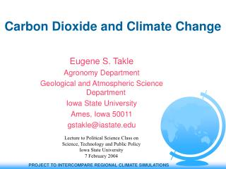 Carbon Dioxide and Climate Change