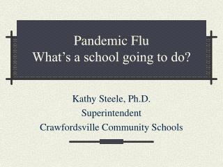 Pandemic Flu  What's a school going to do?