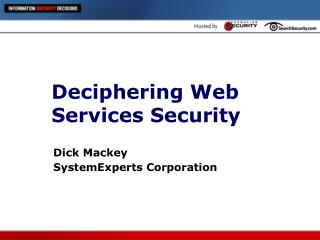 Deciphering Web Services Security