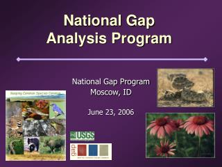 National Gap  Analysis Program