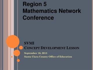 SVMI Concept Development Lesson