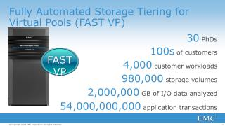 Fully Automated Storage Tiering for Virtual Pools (FAST VP)