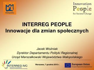 INTERREG PEOPLE Innowacje dla zmian społecznych
