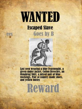 WANTED Escaped Slave