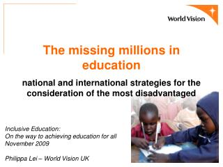 The missing millions in education