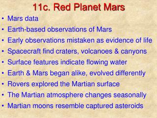 11c. Red Planet Mars