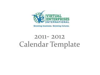 2011- 2012  Calendar Template