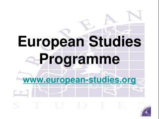 European Studies  Programme european-studies