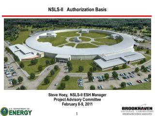 NSLS-II   Authorization Basis