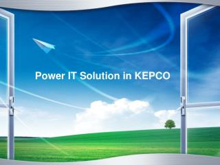 Power IT Solution in KEPCO