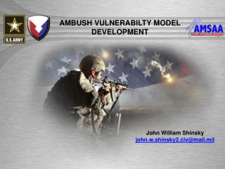 AMBUSH VULNERABILTY MODEL DEVELOPMENT