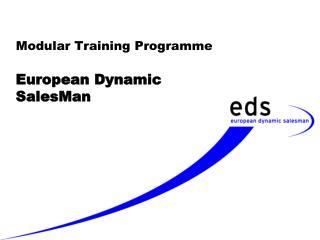 Modular Training Programme