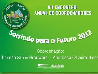 Coordenação: Larissa  Simon  Brouwers  - Andressa Oliveira Bicca