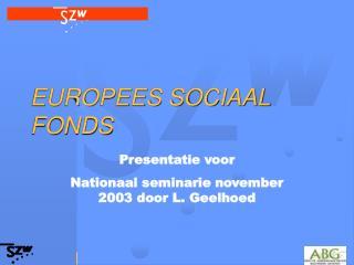EUROPEES SOCIAAL FONDS