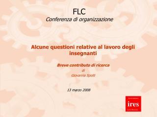 FLC Conferenza di organizzazione