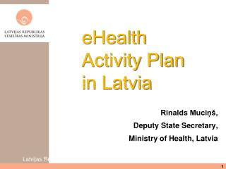 eHealth  Activity Plan in Latvia