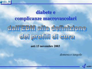 dall'EBM alla definizione dei profili di cura