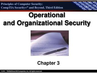 Operational and Organizational Security