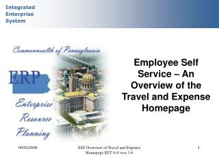 Employee Self Service � An Overview of the Travel and Expense Homepage