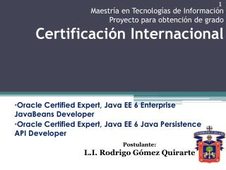 Oracle  Certified Expert , Java EE 6 Enterprise JavaBeans  Developer
