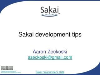 Sakai development tips
