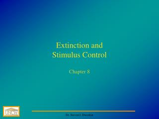 Extinction and  Stimulus Control