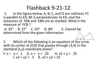 Flashback  9-21-12