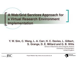 A Web/Grid Services Approach for a Virtual Research Environment Implementation
