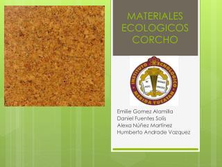 MATERIALES ECOLOGICOS CORCHO