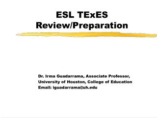 ESL TExES Review/Preparation