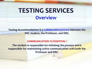 TESTING SERVICES Overview