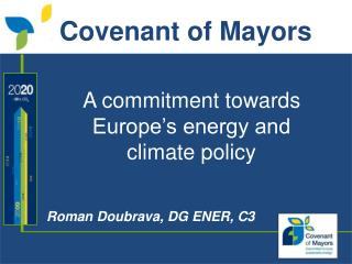 A commitment towards Europe's energy and climate policy