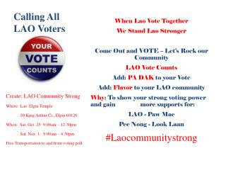 Calling All LAO Voters