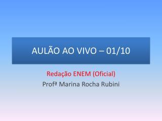 AULÃO AO VIVO  – 01/10