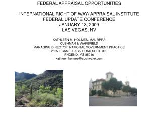 FEDERAL APPRAISAL OPPORTUNITIES  INTERNATIONAL RIGHT OF WAY
