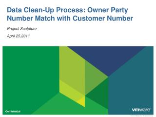 Data Clean-Up Process: Owner Party Number Match with Customer Number