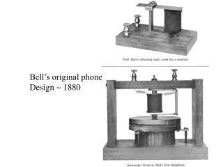 Bell's original phone Design ~ 1880