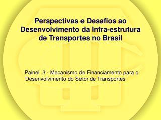 Perspectivas e Desafios ao Desenvolvimento da Infra-estrutura de Transportes no Brasil