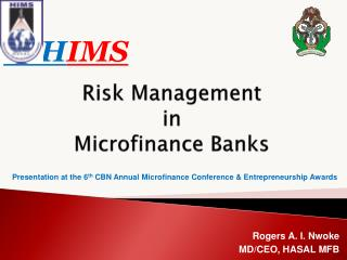Risk Management  in Microfinance Banks
