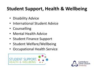 Student Support, Health & Wellbeing