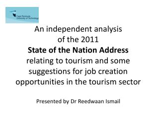 An independent analysis  of the 2011 State of the Nation Address
