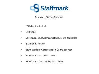 Temporary Staffing Company:  70% Light Industrial  33 States