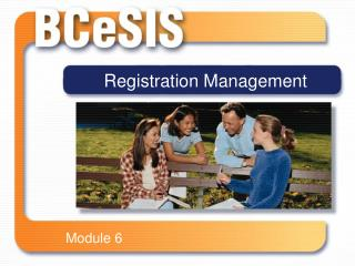 Registration Management