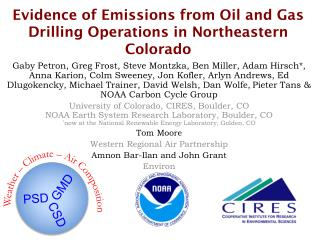 Evidence of Emissions from Oil and Gas Drilling Operations in Northeastern Colorado
