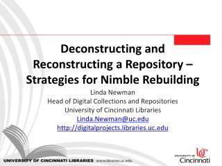 Deconstructing and Reconstructing a Repository – Strategies for Nimble Rebuilding