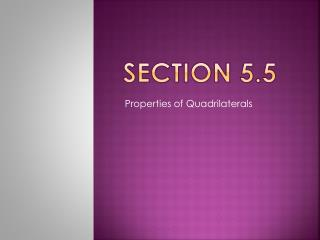 Section 5.5