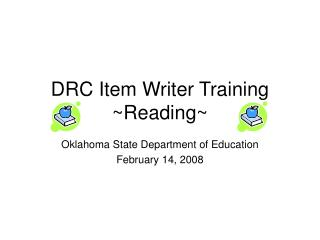 DRC Item Writer Training ~Reading~