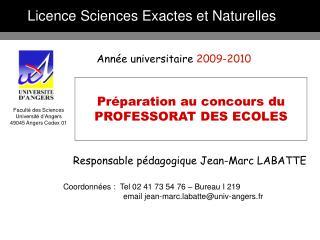 Licence Sciences Exactes et Naturelles
