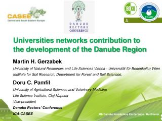 Universities networks contribution to the development of the Danube Region